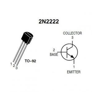 ترانزیستور 2N2222 پلاستیکی