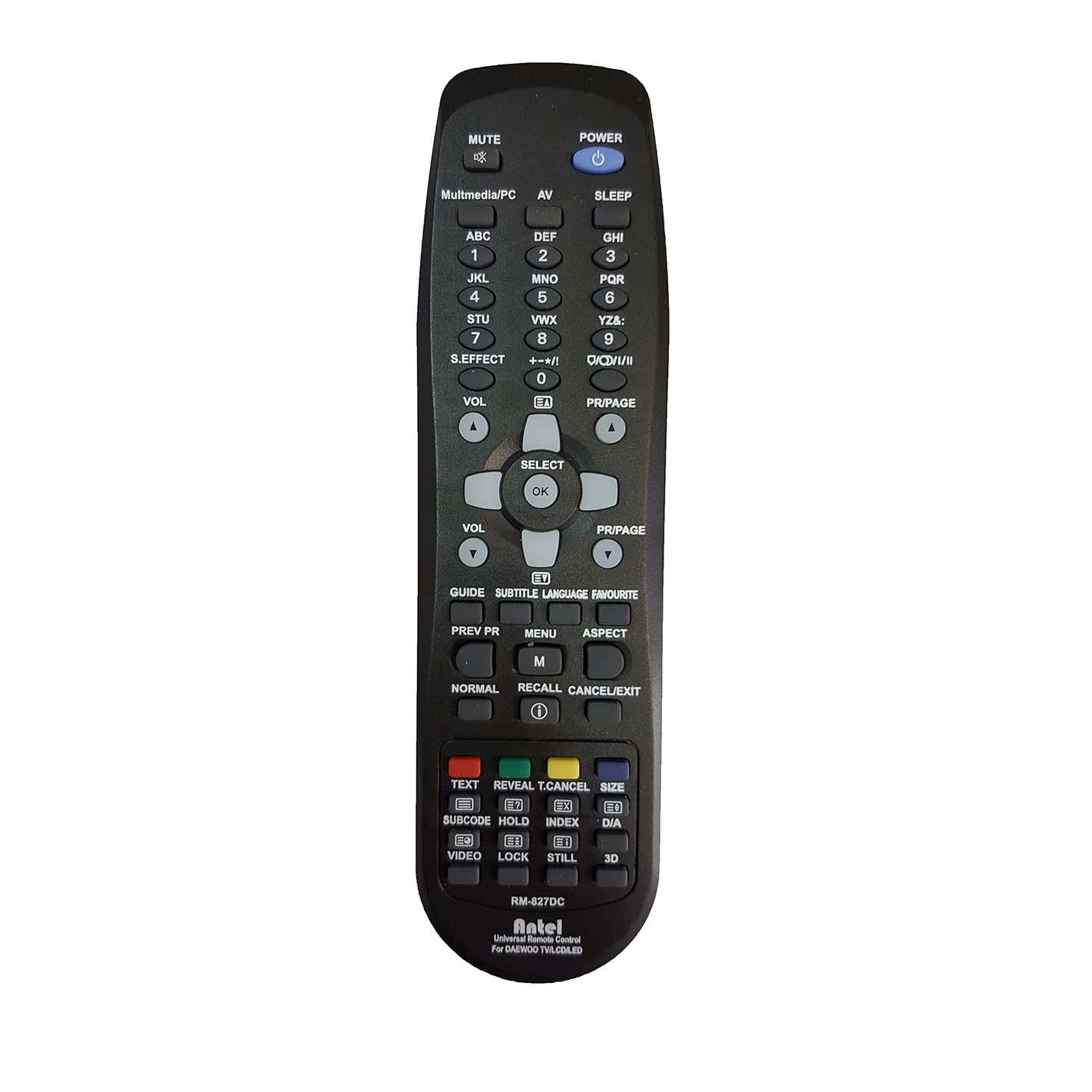 کنترل همه کاره تلویزیون دوو RM-827DC