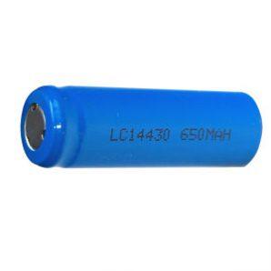 باتری لیتیومی3.7 ولت 600 میلی آمپر 14430