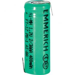 باتری لیتیومی 1.2 ولت 400 میلی آمپر 2/3AAA