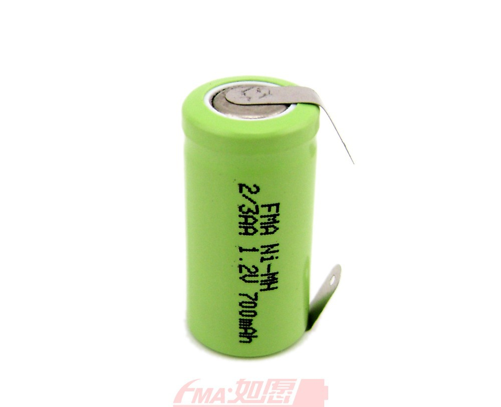 باتری لیتیومی 1.2 ولت 500 میلی آمپر 2/3AA