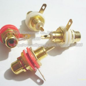 Gold-Amplifier-Audio-Terminal-font-b-RCA-b-font-font-b-Connector-b-font-Female-Chassis