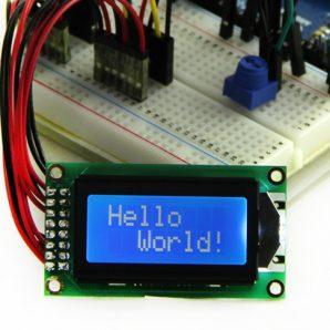 LCD ال سی دی کاراکتری 2*8 بک لایت آبی