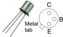 ترانزیستور BC107 NPN فلزی