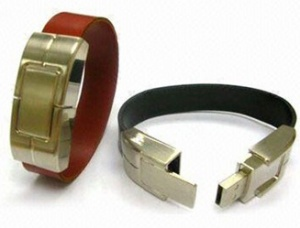 فلش مموری های دستبند چرمی 16 گیگ - قهوه ای