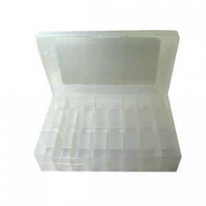 جعبه قطعات درب دار 21 خانه طرح پروسکیت سایز کوچک