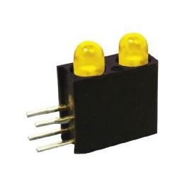 LED قابدار دوبل زرد رایت 3mm