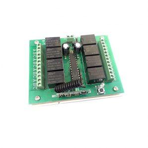 گیرنده 8 کانال رادیویی 315 MHz دوازده ولت (12vdc)
