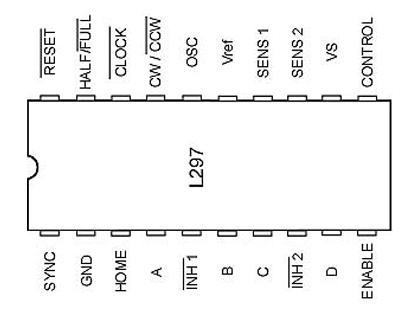 آی سی درایور استپ موتور L297 اورجینال