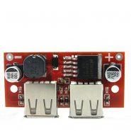 ماژول کاهنده 5 ولت با دو یو اس بی LM2596 USB