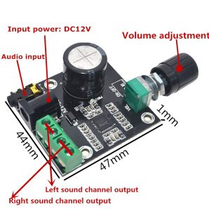 Super-Slim-2-x-15W-PAM8610-Class-D-Digital-Dual-Power-Audio-Amplifier-Board-12V