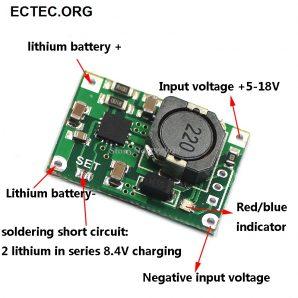 ماژول شارژر و محافظ شارژ باتری لیتومی TP5100
