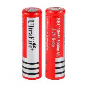 باتری 18650 پلیسی 3.7 ولت قرمز آلترافایر