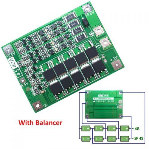 شارژر باتری های لیتیومی 4 سل 40 آمپر