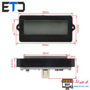 ماژول نمایشگر ال سی دی شارژ باتری لیتیومی/پلیمری/اسیدی 35668ME