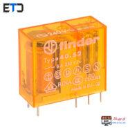 رله فیندر 230 ولت AC دو کنتاکت 8 آمپر (Finder(40.52