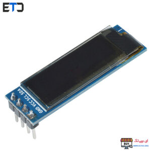 نمایشگر OLED تک رنگ 0.91 اینچ 32×128 دارای ارتباط I2C