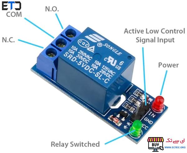 ماژول رله 5 ولت یک کاناله Relay Module