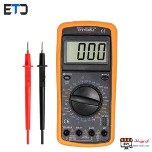مولتی متر دیجیتال اصلی DT9205A مدل هولدر دار