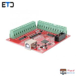 برد کنترلر CNC پنج محور قرمز MACH3 با USB